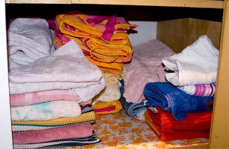 Linen cupboard after