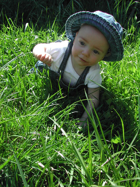 Zoe in the grass
