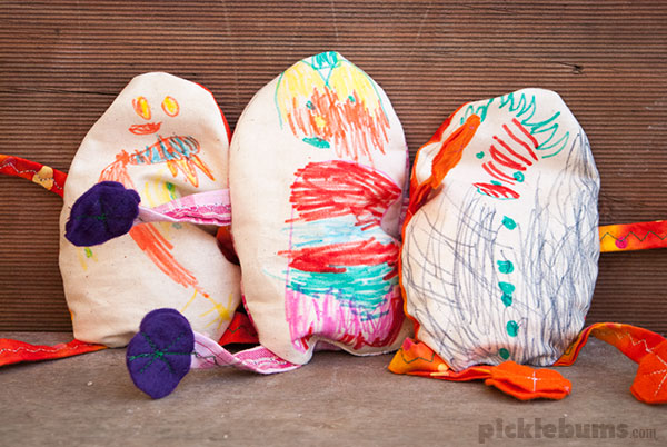 egg-bag people an easy Eater sewing activity