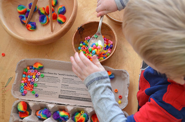Easy activities for practicing fine motor skills