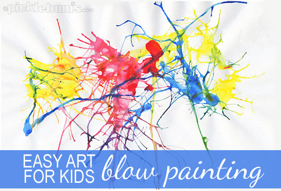blow painting - Colour Painting For Kids