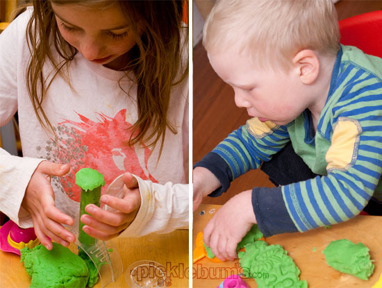Simple microwave play dough recipe
