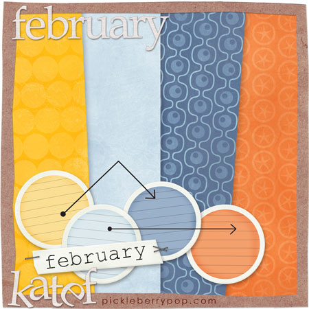 Once a Month  Digi Scrapping February Freebie