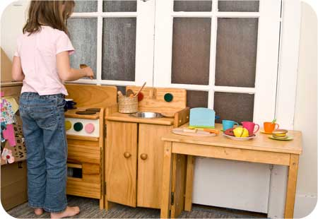 Beau In The Corner Of Our Living Room There Is A Wooden Oven And Wooden Sink.  The Girls Were Given These Beautiful Handmade Childrenu0027s Kitchen Pieces  When They ...