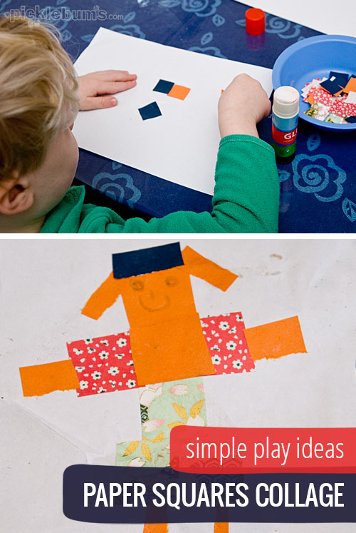 Simple Play Ideas - Paper Square Collage . Because art for kids doesn't have to be difficult.