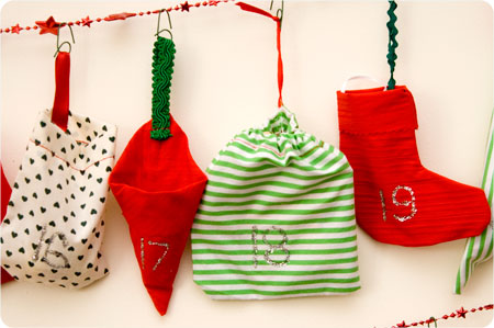 advent calendar cloth bags