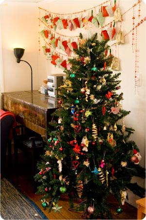 advent calendar christmas tree