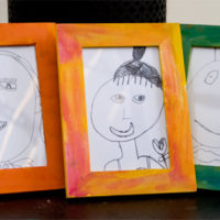 easy art for kids framed portraits