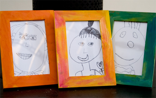 easy art for kids frame a portrait picklebums