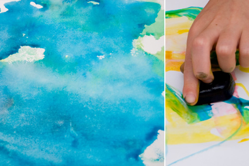 easy art for kids - ice painting