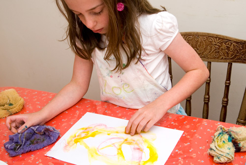 easy art for kids ice painting
