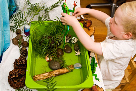 Activities for preschool children: imaginative play: play spaces