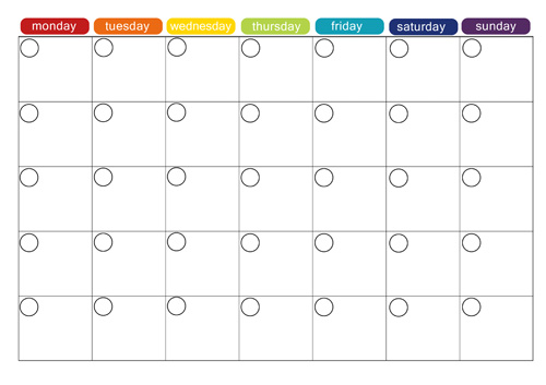 Monthly Menu Plan Printable Picklebums – Printable Monthly Calendars