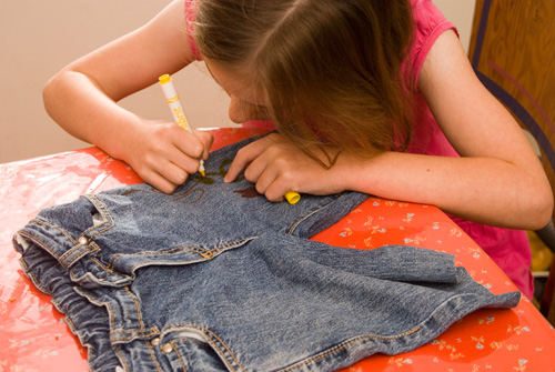 no sew decorated shorts