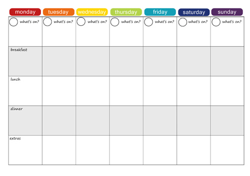 It's just a photo of Free Printable Weekly Meal Planner regarding word
