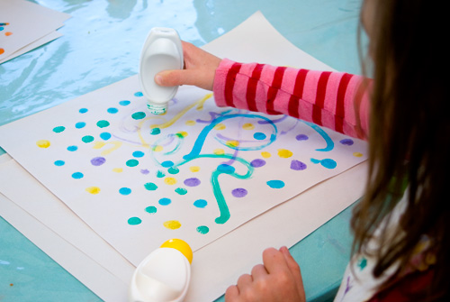 easy art for kids dot painting