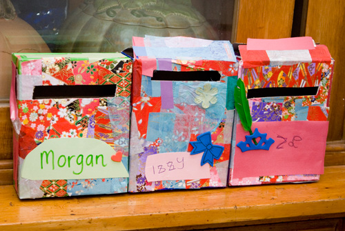Make your own letterboxes