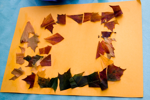 activities for kids autumn leaf collage we play