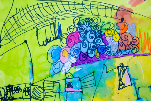 Frank Zweegers Kunst - Kinderkunst - stad