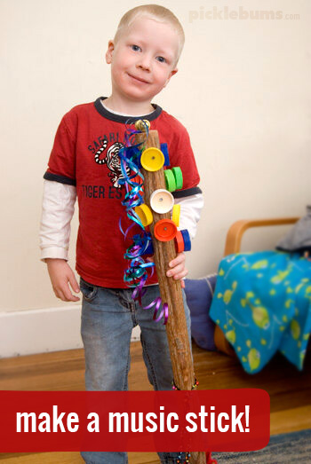 Make a music stick! - Make a music stick- a fun, and quirky musical instrument!
