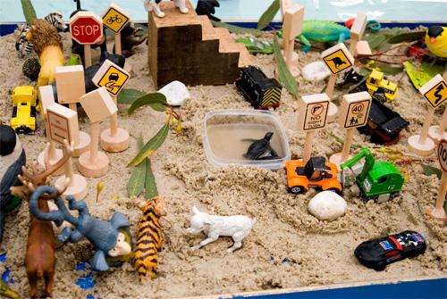 sand tray play