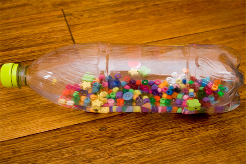 activities for baby - sparkle bottle