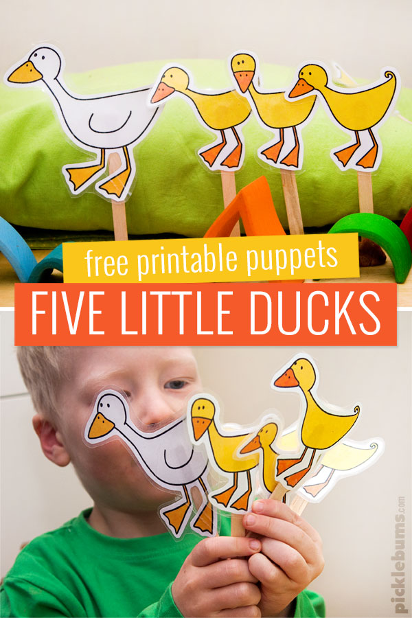 five little ducks printable puppets