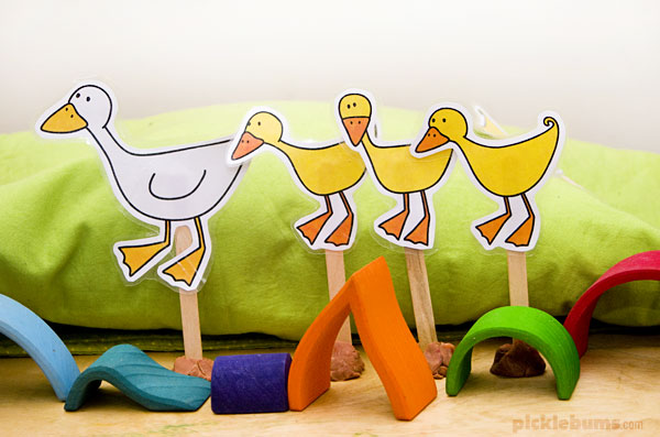 duck puppets and blocks