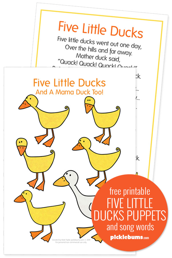 duck puppet printable