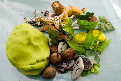 jungle play dough set