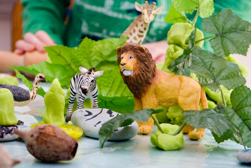 jungle play dough