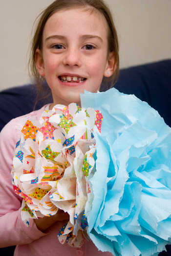 kids crafternoon paper crafts paper flowers
