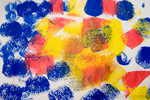 easy art for kids - sponge printing