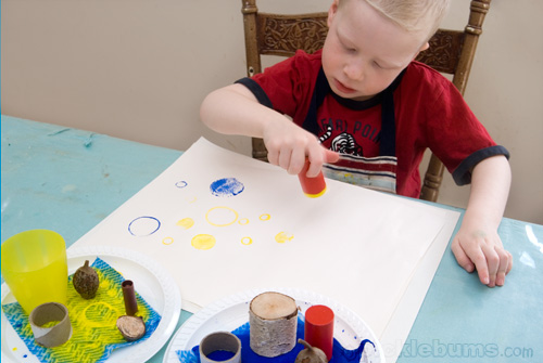 easy art for kids - circle printing