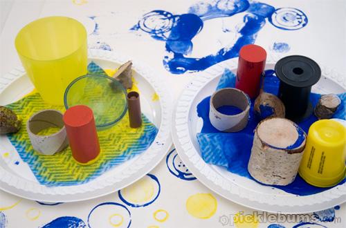 easy art for kids circle printing