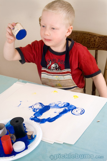 easy art for kids circle printing