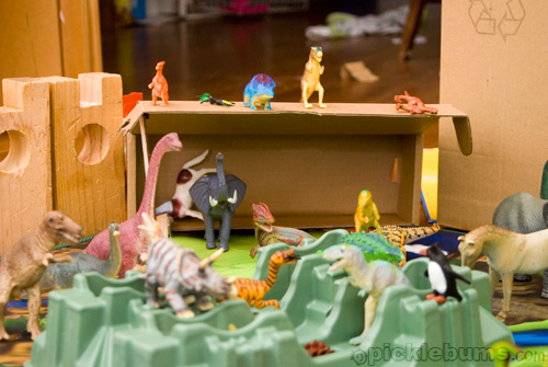dinosaurs and packaging imaginative play