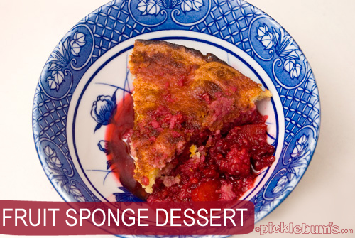 fruit sponge desster