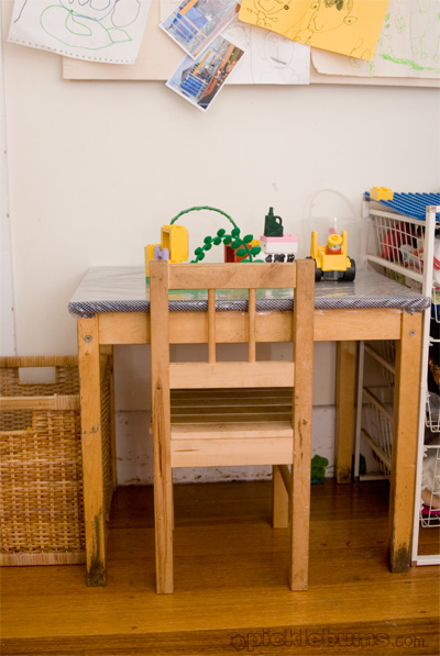cover an ikea kids table