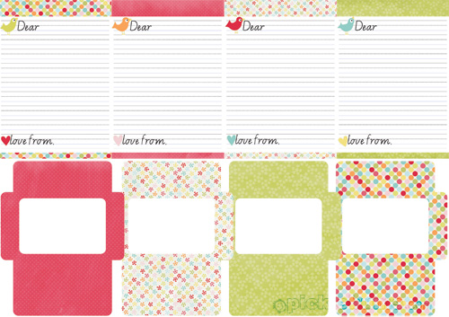 Note paper and envelope sets