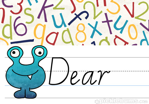 Printable Kid's Letter Writing Set 2