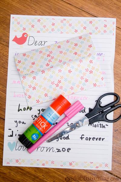 Printable Kids Letter Writing Set Picklebums