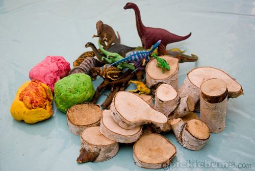Dino play dough