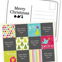 Free printable Christmas photo card template