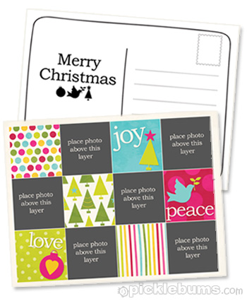 2011 Christmas printable postcard template