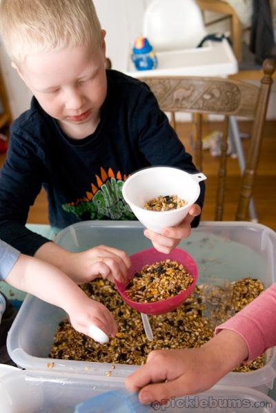 sensory play - seeds