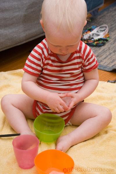sensory play ice play
