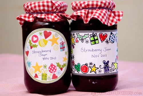 free printable christmas jar labels