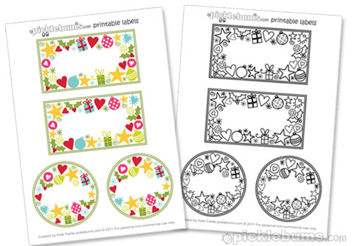 2011 christmas printable series jar labels and a for Jelly jar label template