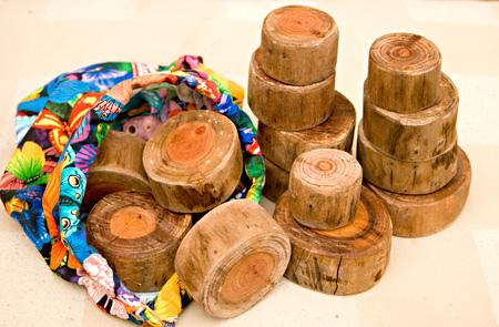 home made tree blocks